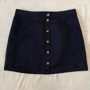 Faux Suede Button Down Navy Old Navy Mini Skirt